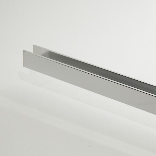 Alu U-Profil für 10mm Glas