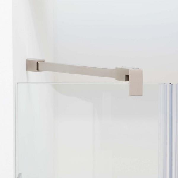 Fixum Stabilisationsstange Eckig, Glas-Wand, 45°