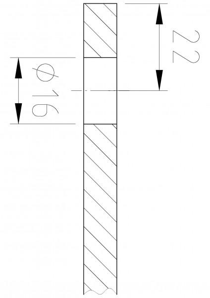 Winkelverbinder Glas-Wand 180°