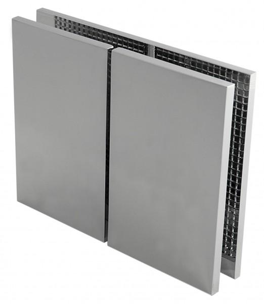 Winkelverbinder Glas-Glas 180°