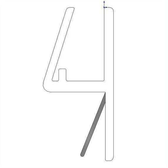 Frontanschlagprofil für 6-8mm Glas