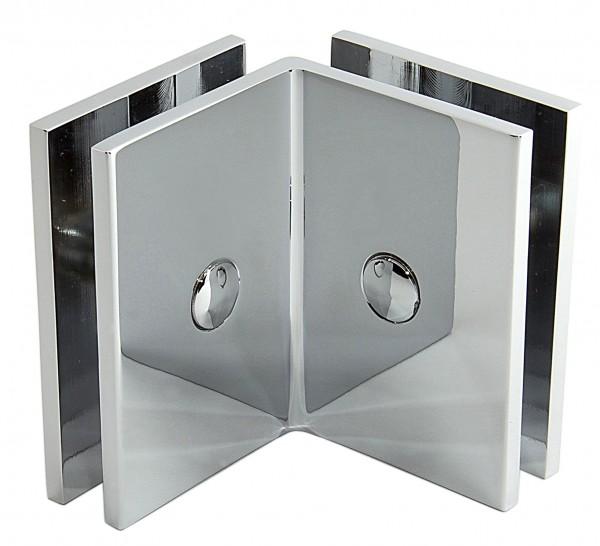 Winkelverbinder Glas-Glas 90°