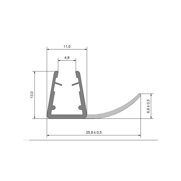 Anschlagdichtung für 5-8mm Glas